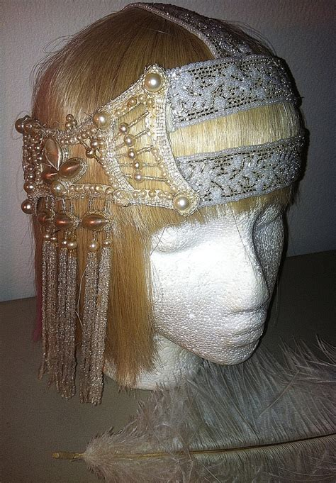 flapper beaded headdress authentic 1920s beaded deco bridal flapper headpiece