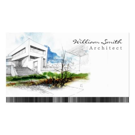 architect business card architect double sided standard business cards pack of