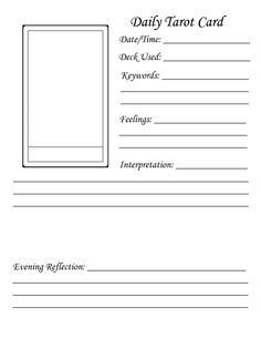 tarot card template customer service tarot journal jonika tarot
