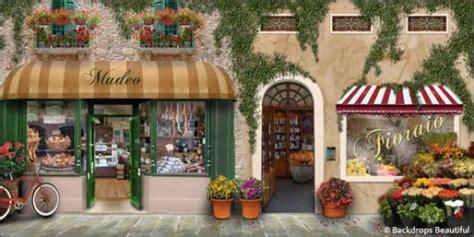Tuscan Wall Murals backdrops italian street scene 5