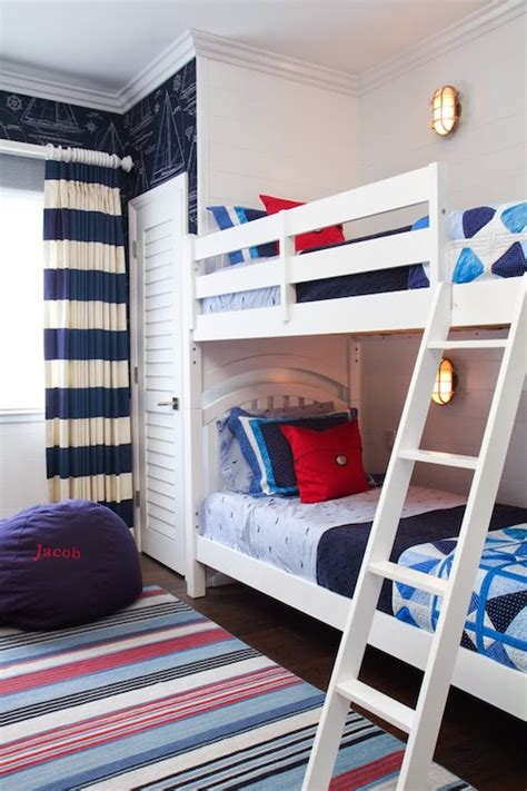 navy curtains boys room kids bedroom with best in show wallpaper and navy bunk
