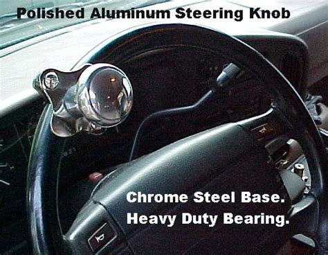 Steering Knob Illegal steering spinner brody knob polished aluminum new for car