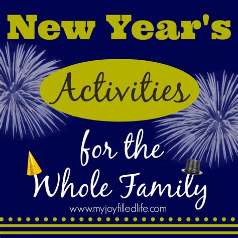 new year activity new year s activities for the whole family my