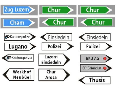 Word Vorlage Wegweiser Schweizer Strassen Wegweiser 1 87 Schilderdruck