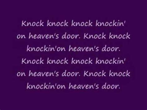Knock Knock Knockin On Heavens Door by Avril Lavigne Knockin On Heaven S Door With Lyrics