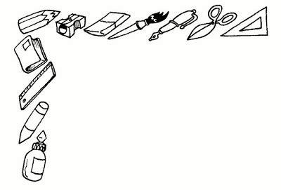 imagenes de utiles escolares para iluminar dibujos de articulos escolares imagui