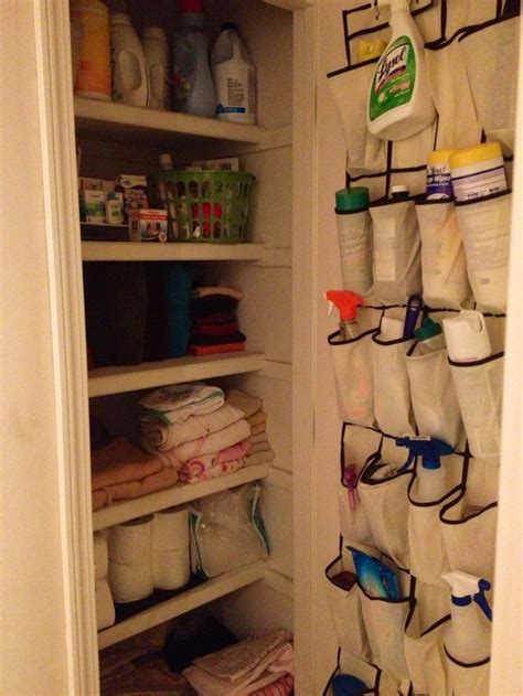 shallow linen closet organization storage ideas pinterest linen closet organization organizing pinterest