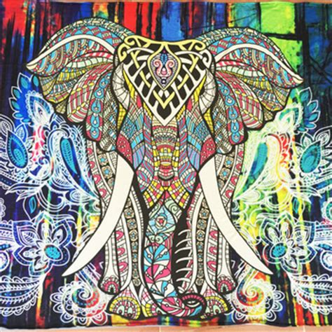 130x150cm Elephant Tapestry Colored Printed Decorative 6 elephant tapestry colored printed decorative mandala wall