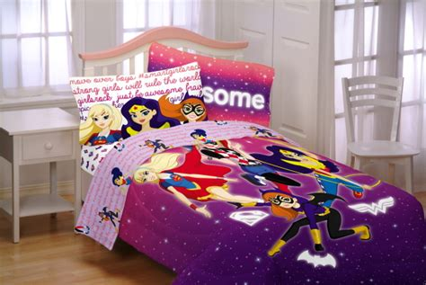 girl superhero bedding franco mfg dcshg cosmic girls bedding set the fanboy factor
