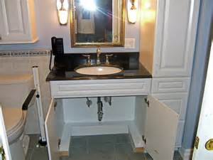 wheelchair accessible sink and vanity