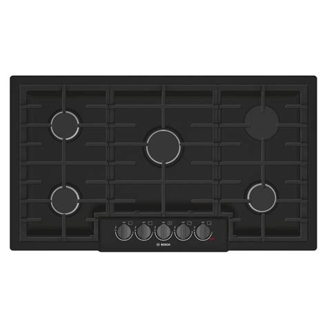 black gas cooktops whirlpool 36 in gas cooktop in black with 5 burners