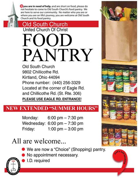 Food Pantry Mission Statement by Food Pantry Flyer Sample Bing Images