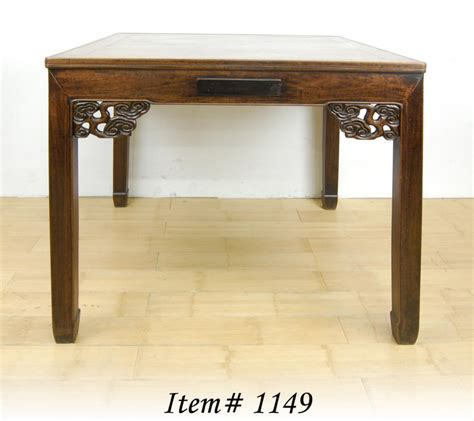 Japanese Dining Table Ebay Antique Mah Jong Dining Table Huali Wood Flower