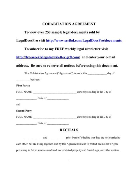 cohabitation agreement bc template cohabitation agreement template free uk templates