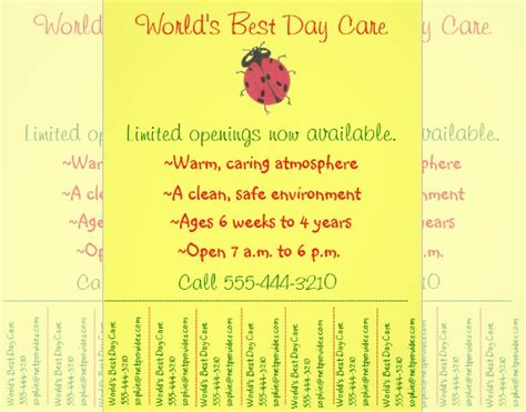 daycare flyer template 15 free psd ai vector eps