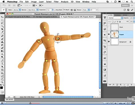 tutorial photoshop warp puppet warp photoshop cs5 puppet warp tool video