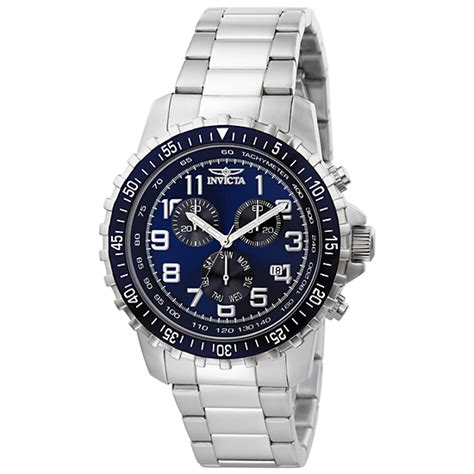 Steel Blue List Silver invicta or line men s watches