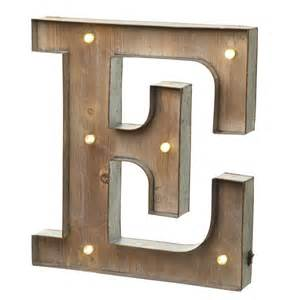 Lighted Marquee Letters Led Light Up Wood Amp Metal Carnival Letter E