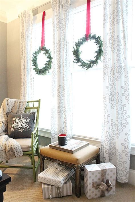 small bedroom windows small wreaths on the bedroom windows refresh restyle