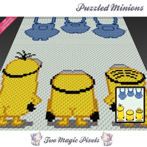 pattern magic 3 pdf free download puzzled minions crochet blanket pattern twomagicpixels