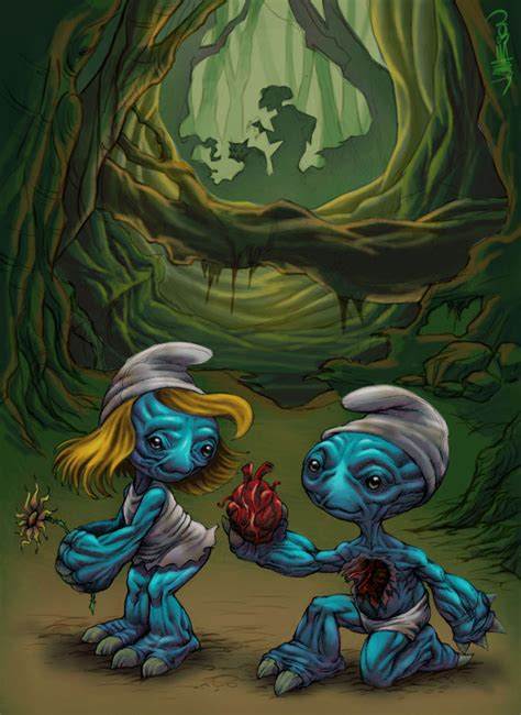 smurf painting characters favourites by junaidmiran on deviantart