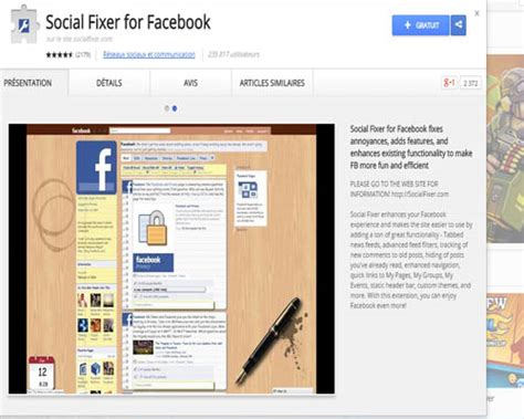facebook fixer meilleures extensions chrome pour facebook 224 installer