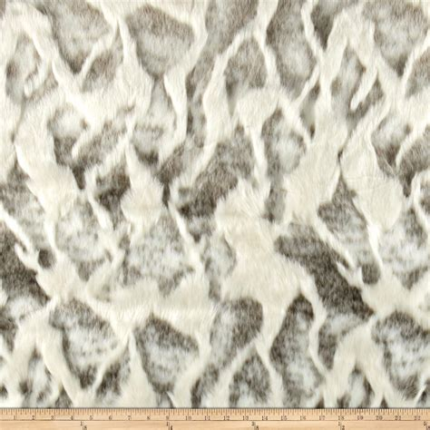fur upholstery fabric faux fur high low rabbit ivory brown discount designer
