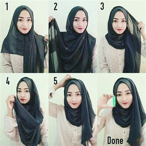 tutorial hijab simple buat kerja tutorial hijab by nursani rahmani whi