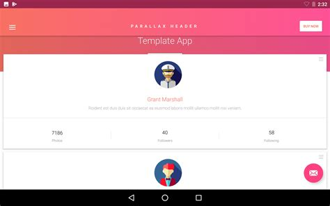 material design ui android template app by creativeform matta material design android ui template theme app by