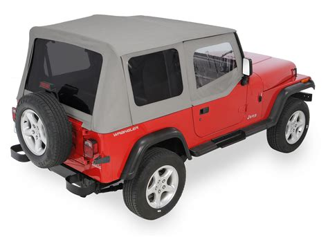 jeep soft top quadratop 174 replacement soft top with upper doors tinted