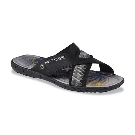west coast slippers west coast s ramon black slide sandal shoes s