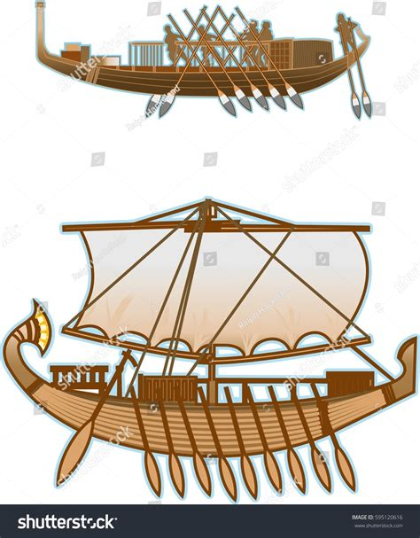old boat vector old egypt boats stock vector 595120616 shutterstock