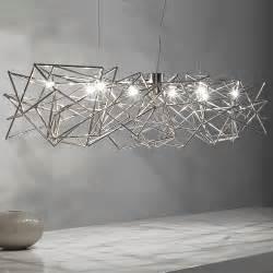 modern light modern geometric silver pendant light