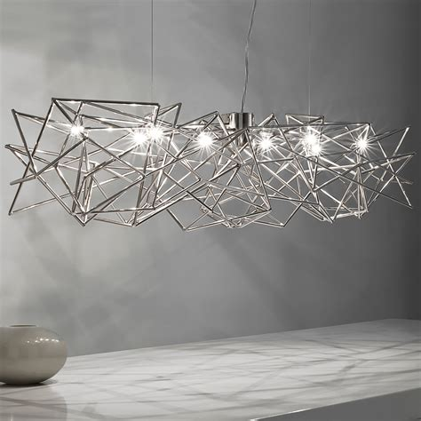 Chandeliers Design Modern Geometric Silver Pendant Light