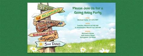 Moving Away Party Invitations Going Away Invitation Template Free