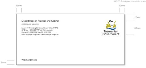 with compliments card template tasmanian government communications stationery