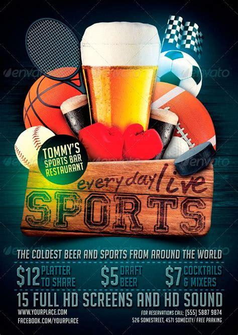 Sports Bar Flyer Template Http Www Ffflyer Com Sports Bar Flyer Template Party Posters Bar Flyer Templates Free