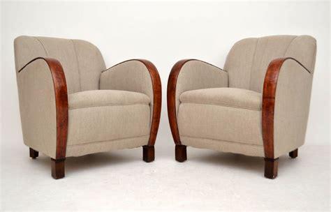 art deco armchairs uk pair of swedish art deco satin birch armchairs vintage