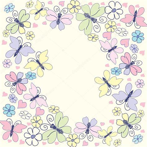 Decorative Butterflies With by Decorative Frame With Raznotsventymi Butterflies Flowers