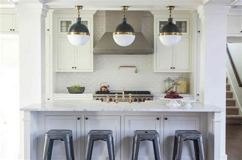 kitchen islands with columns kitchen island columns transitional kitchen julie