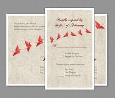 Two Cranes Wedding Invitation Minted Faire Part Ori On Printed Origami Cranes Wedding Crane Crane Invitation Templates