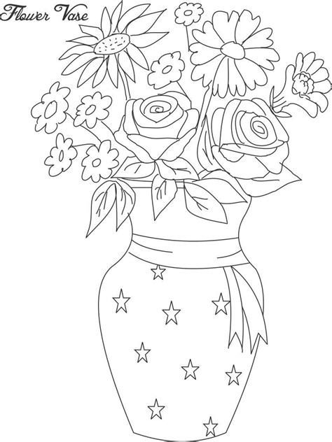 coloring pages of flowers in a pot flower pot coloring page 12