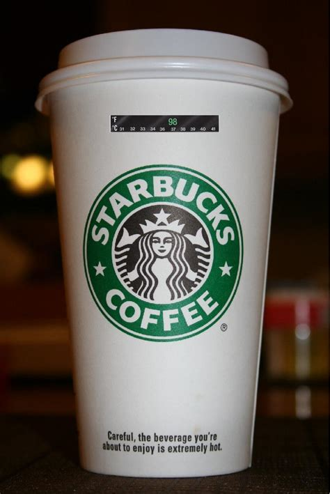Coffee Starbucks product idea starbucks can you put a temperature indicating on your cup i think thus i am