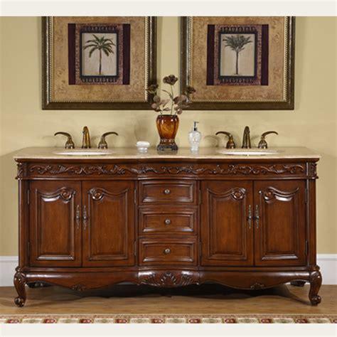 26 Inch Vanity Cabinet Silkroad Antique Double Sink Vanity Hyp 8034 72 T