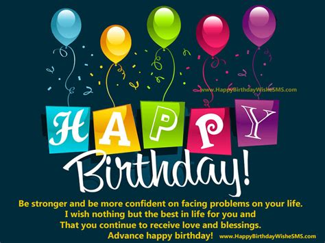 Birthday Thanks Quotes To Friends Advance Birthday Inspirational Quotes Happy Birthday In