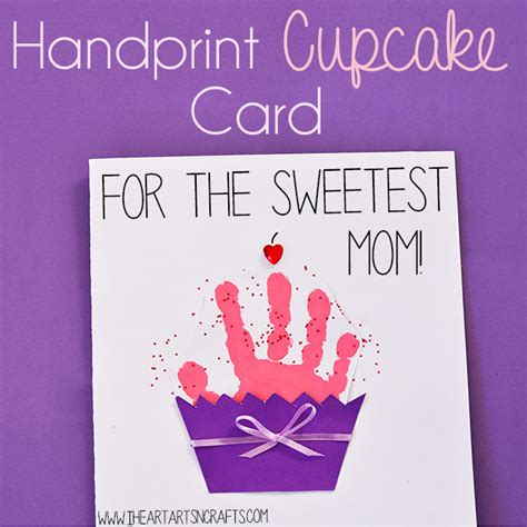 card handprint handprint cupcake card keepsake crafts cupcake card and
