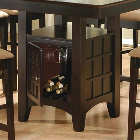 counter height kitchen tables with storage coaster hyde counter height square dining table with