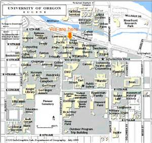 u of oregon map uo srml cus map
