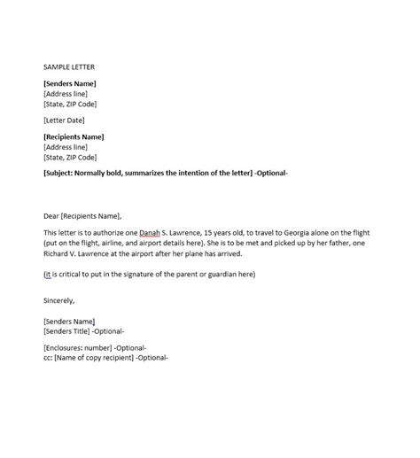Business Letter Giving Permission sle letter of consent to travel travel business
