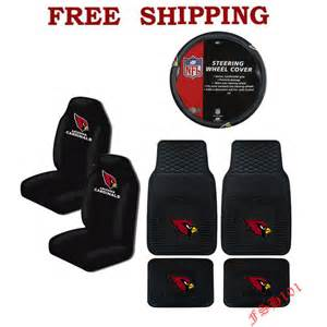 Nfl Seat Covers For Trucks Nfl Arizona Cardinals Car Truck Steering Wheel Cover Floor